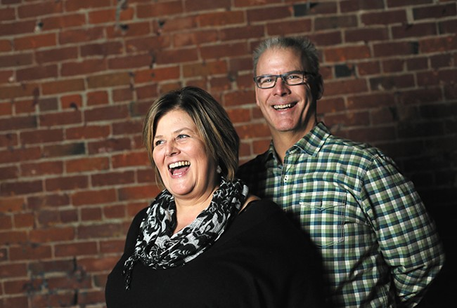 Renee Fandt and her husband, Kevin, are two of the Spokane Comedy Club owners. - YOUNG KWAK