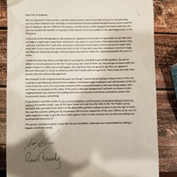 A letter sent to the city of Spokane from Rogue Heart Media. The media company says the letter was written at a time of high emotion.