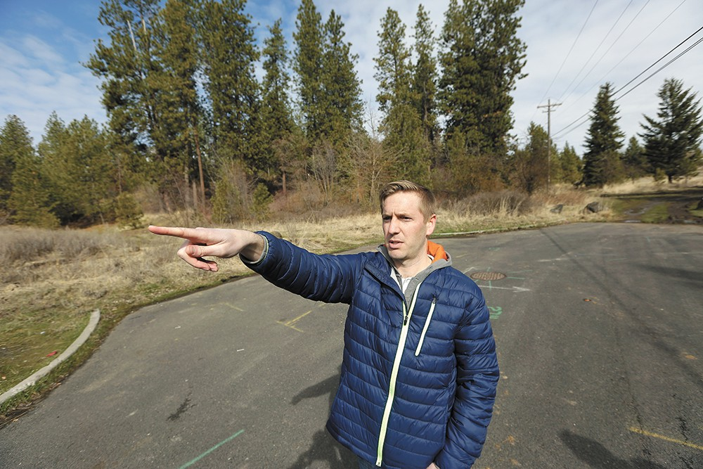 With a developer intending to turn these 25 acres on the South Hill into a dense, mixed-use urban development, Lincoln Heights neighbors, including Drew Repp, have raised a bevy of concerns. - YOUNG KWAK