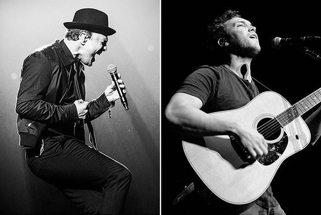 Gavin DeGraw (left) and Phillip Phillips, who share a headlining bill on Aug. 11 at the Festival at Sandpoint.
