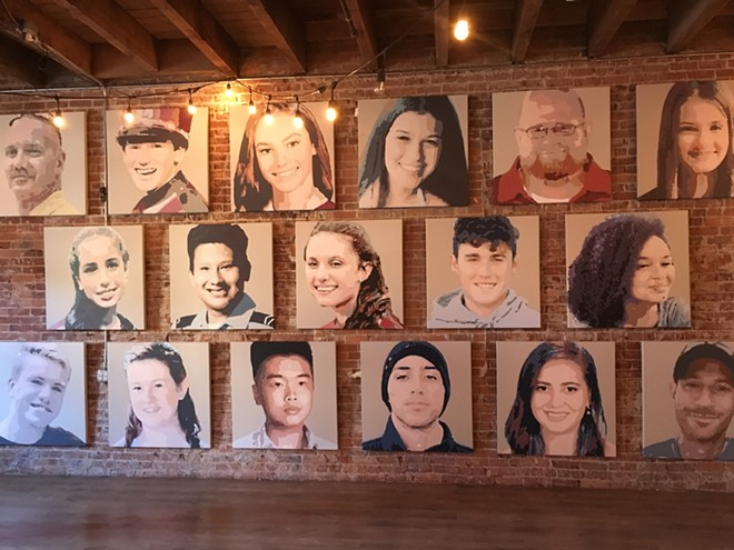 Portraits of the 17 students and staff members who were shot and killed in a Parkland, Florida, high school. - MITCH RYALS PHOTO
