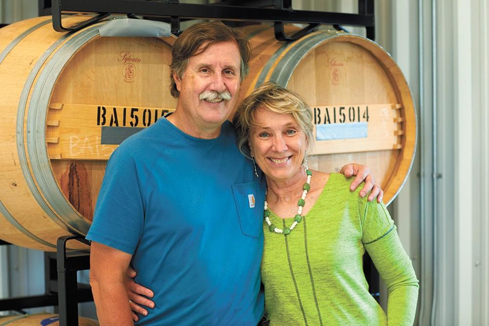 Phillip and Patricia Butterfield opened Winescape's tasting room last November. - DOUG ADESKO PHOTO