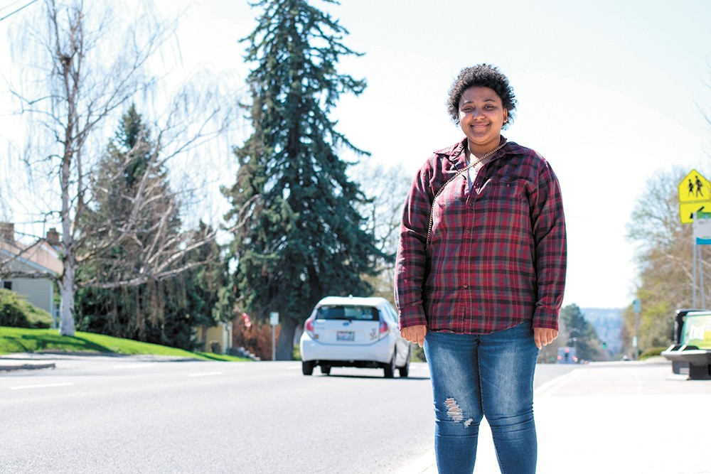 Jaeda Claybrooks, 17, has found a home and is now ready to graduate. - WILSON CRISCIONE PHOTO