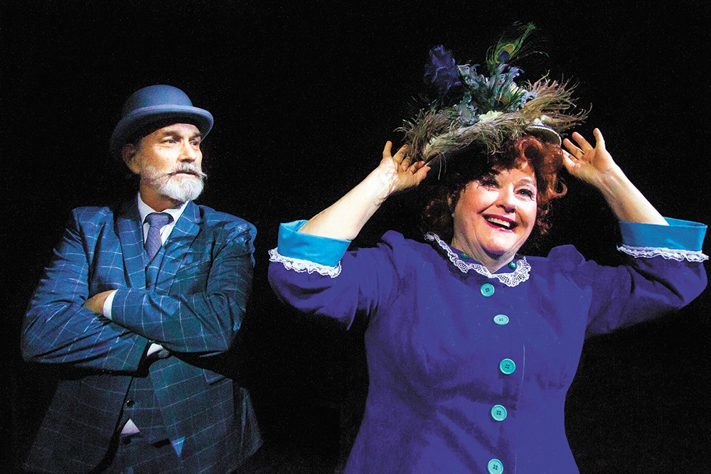 Robbi Starneg (right) as Dolly Levi and Thomas Heppler as Horace Vandergelder. - JEFF FERGUSON PHOTO