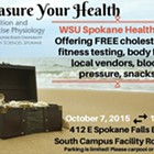 Treasure Your Health: WSU Spokane Health Fair