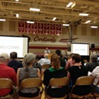 Hundreds seek answers about contaminated water at Fairchild meeting Tuesday night
