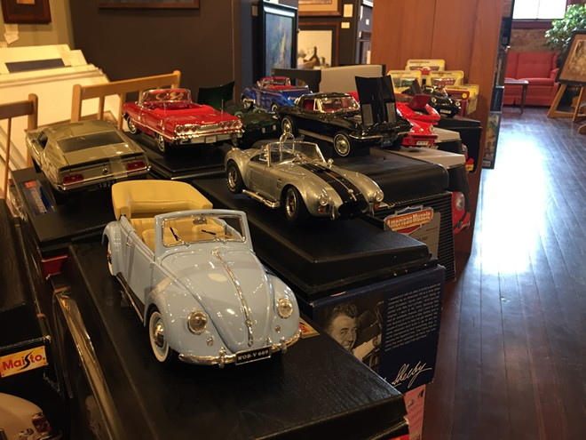 A selection of classic, collectible cars