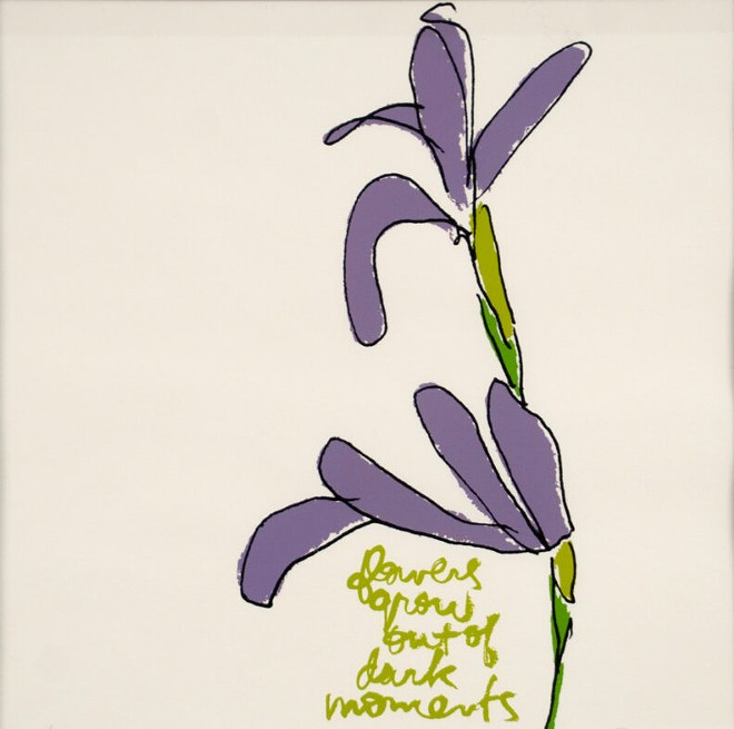Corita Kent, Flowers for Mary Lavender