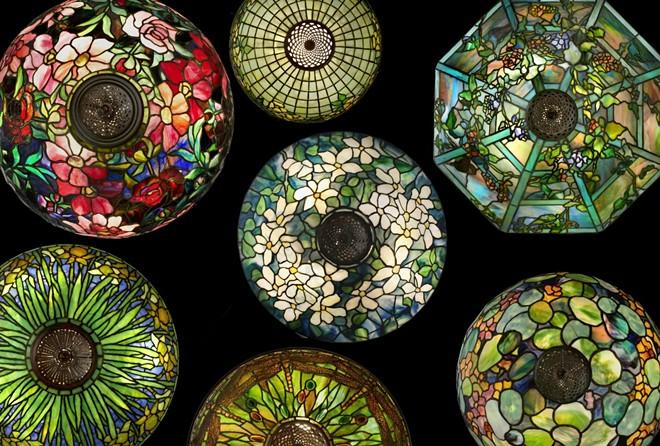 Tiffany Studios, Group of lamps (birds-eye detail). Photograph by John Faier. © 2013 The Richard H. Driehaus Museum.