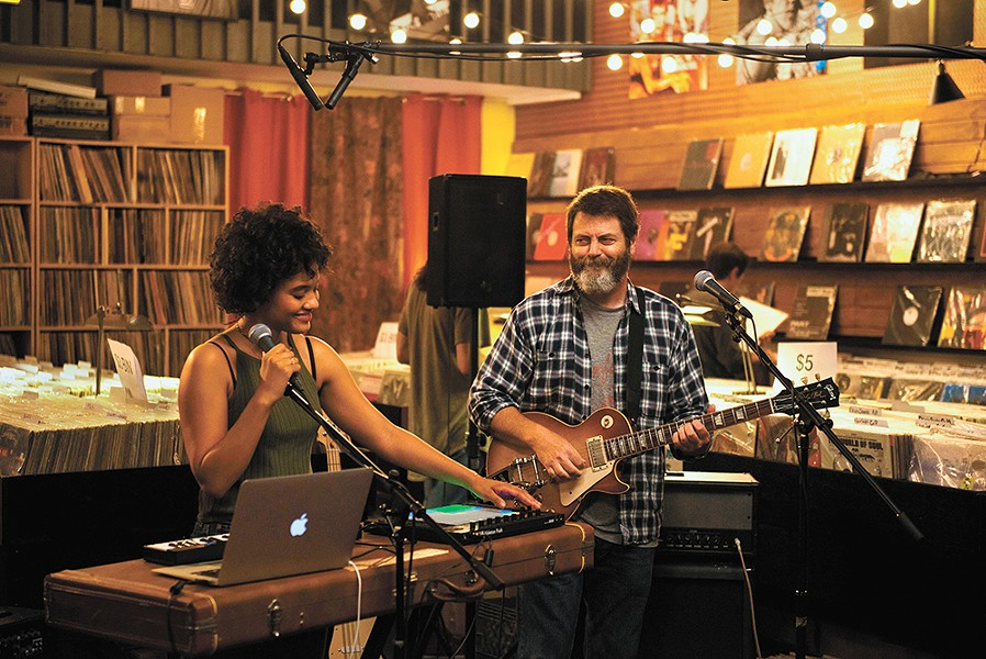 Kiersey Clemons and Nick Offerman are a father and daughter who become unwitting indie pop stars in Hearts Beat Loud.