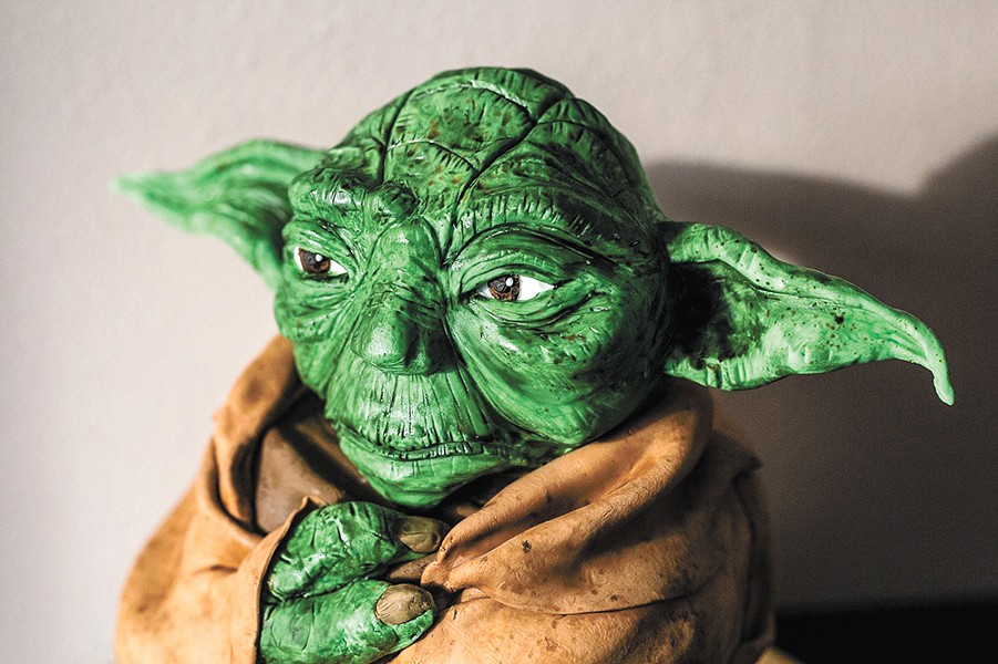 Yoda comes to life in sugar form for this sculpted cake. - ALICIA HAUFF PHOTO