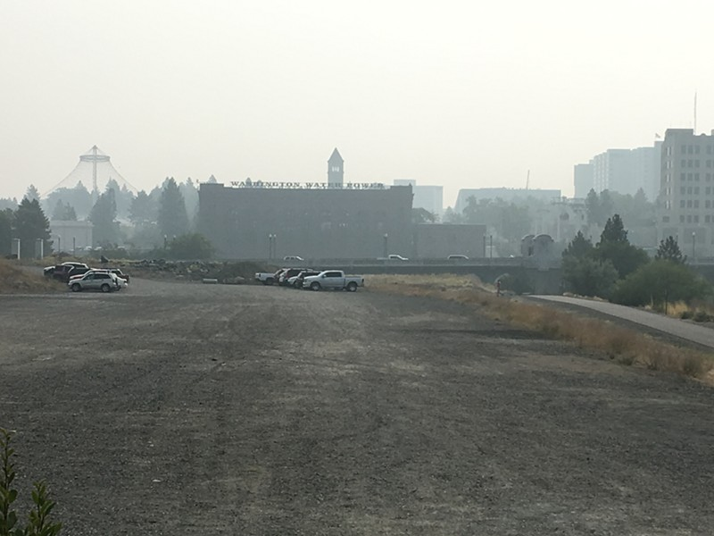 The view from Inlander HQ is quite smoky today. - SAMANTHA WOHLFEIL