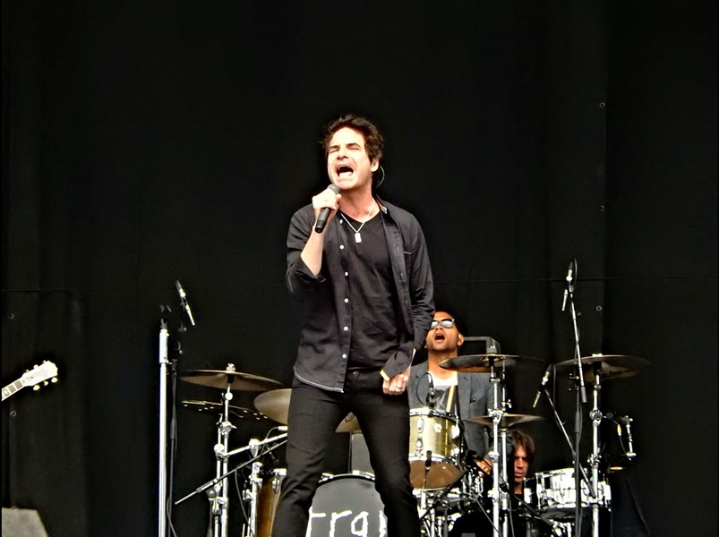 Patrick Monahan belting out some tunes at V Festival in 2014. - DREW DE F FAWKES