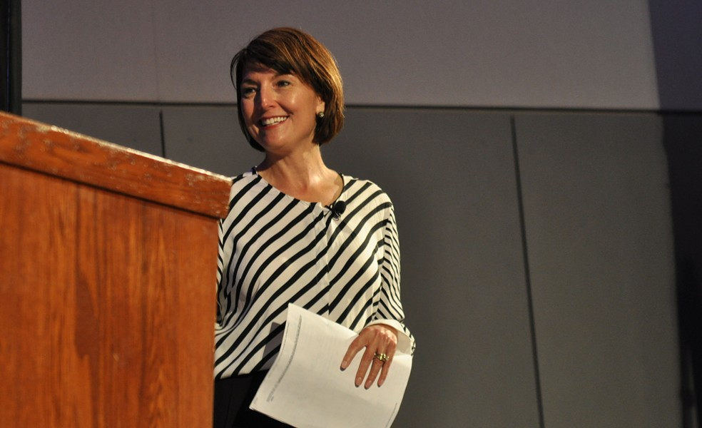 Rep/ Cathy McMorris Rodgers at Thursday night's town hall. - DANIEL WALTERS PHOTO