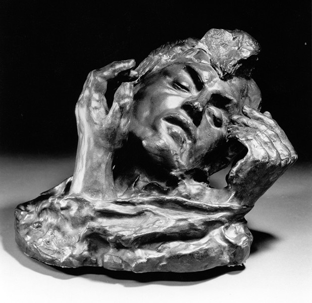 Rodin's Head of Shade with Two Hands  - IRIS AND B. GERALD CANTOR FOUNDATION