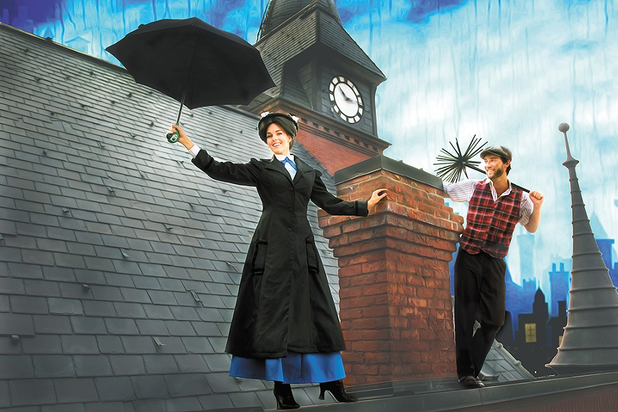 Mary Poppins opens the Spokane Civic's 72nd season. - EMILY JONES PHOTO ILLUSTRATION