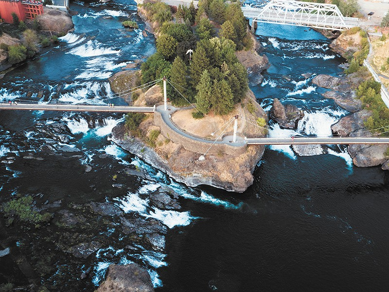 The city continues to deal with a legacy of PCB contamination in the Spokane River. - JAMES NISBET PHOTO