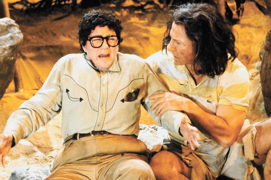 Julia Sweeney as Pat alongside Harvey Keitel in a 1993 Saturday Night Live sketch.