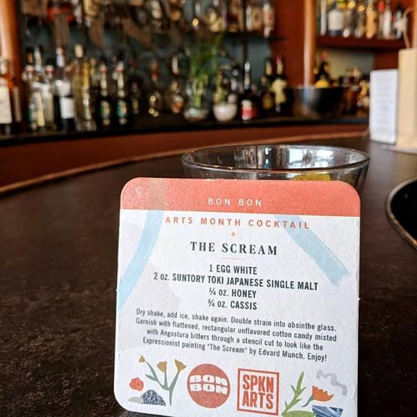 Order Bon Bon's special cocktail, The Scream, to benefit Spokane Arts Month. - SPOKANE ARTS