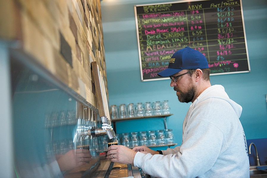 Matt Gilbreath, owner and brewer of Humble Abode Brewing. - DEREK HARRISON PHOTO