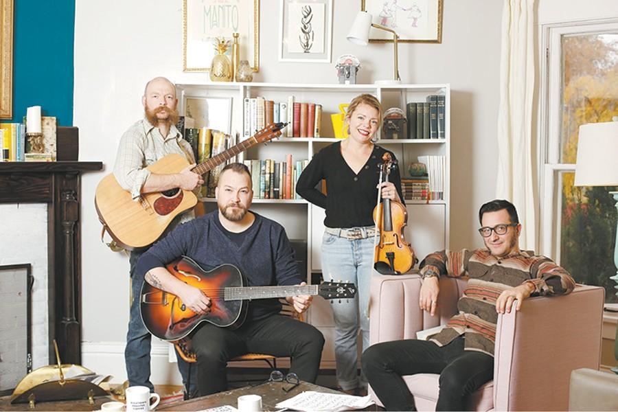 The punk-folk quartet Bust It Like a Mule. - YOUNG KWAK