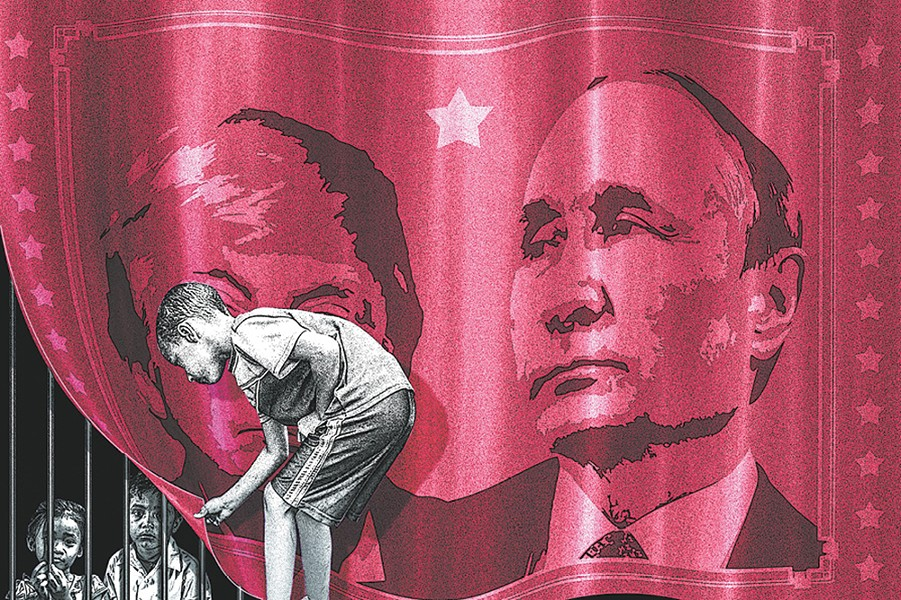 Understanding the influence of Russia is important, but Project Censored argues that coverage shouldn't come at the expense of other important stories. - ANSON STEVENS-BOLLEN ILLUSTRATION
