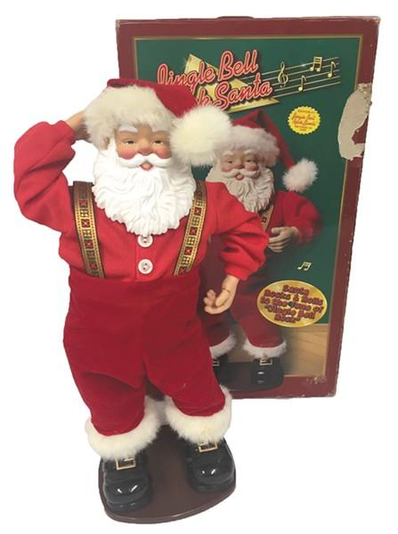 Who doesn't love a dancing Santa?