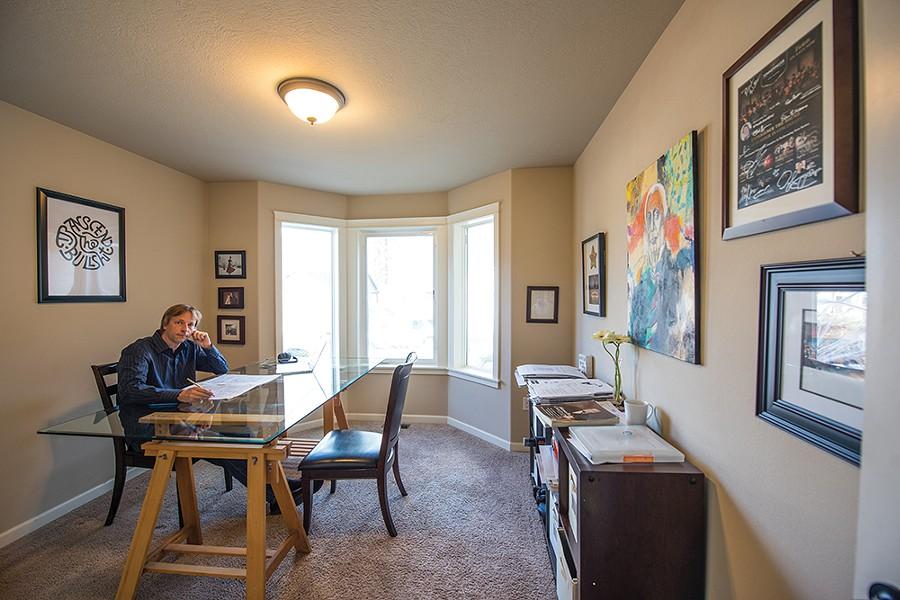 Eckart Preu's workspace - DON HAMILTON PHOTO