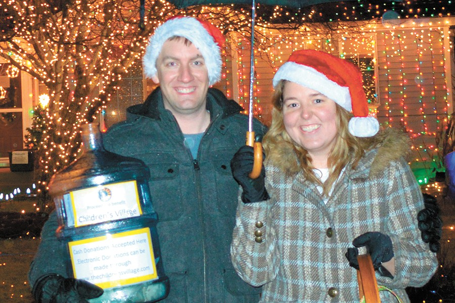 Jeremy and Kristy Morris at the 2014 Hayden Christmas Light Show, at their old neighborhood.