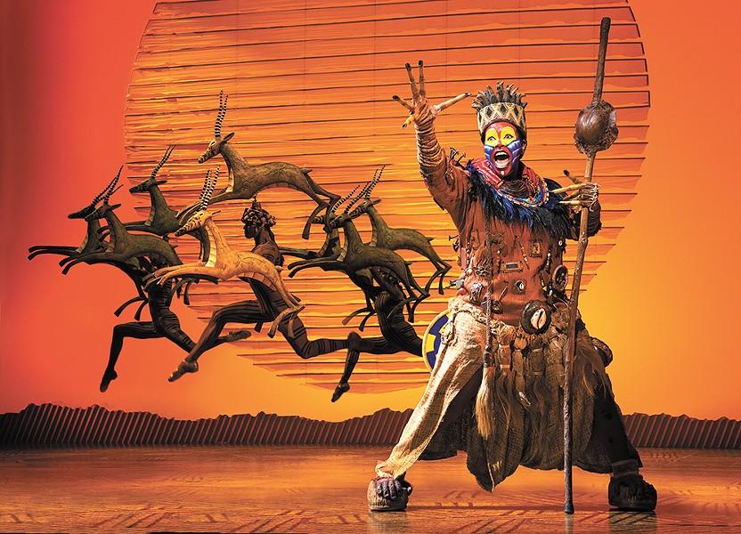 Buyi Zama has played Rafiki in The Lion King for 16 years. - DEEN VAN MEER PHOTO