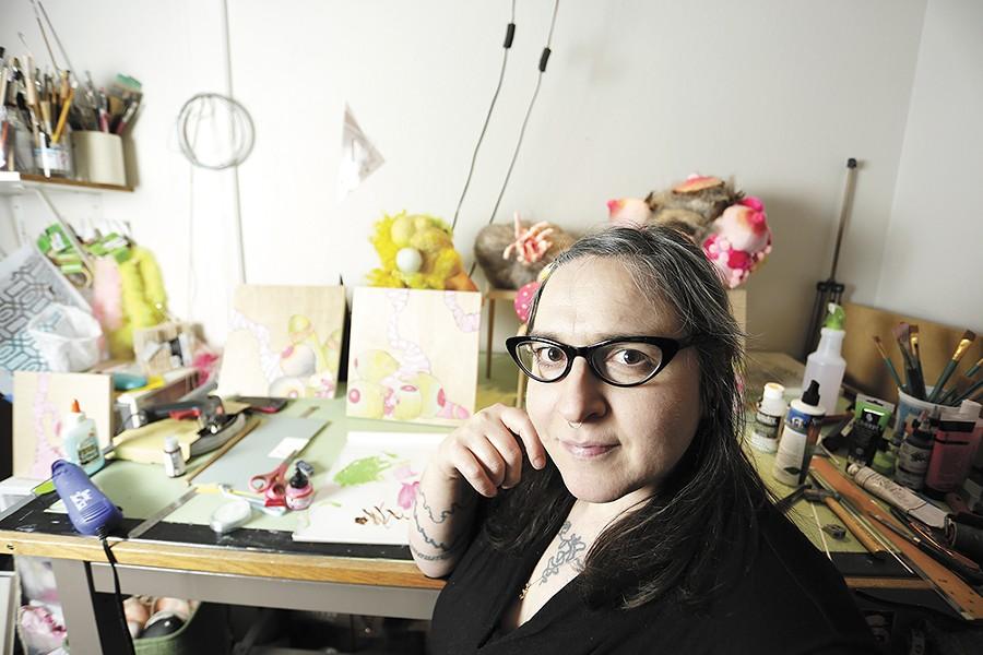 Artist Melanie Lieb in her studio. - YOUNG KWAK