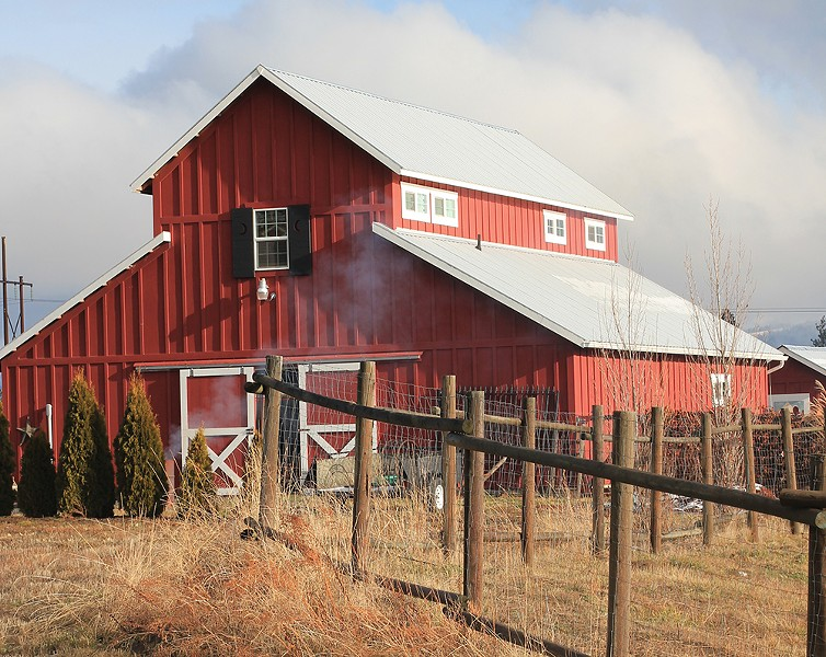 The Westward Leather Company barn. - CARRIE SCOZZARO PHOTO