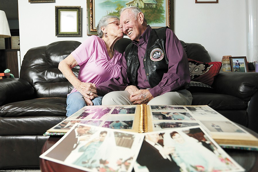 Jim and Beth Valentine met more than 50 years ago, when her car repairs gave him the perfect excuse to ask her out. - YOUNG KWAK PHOTO