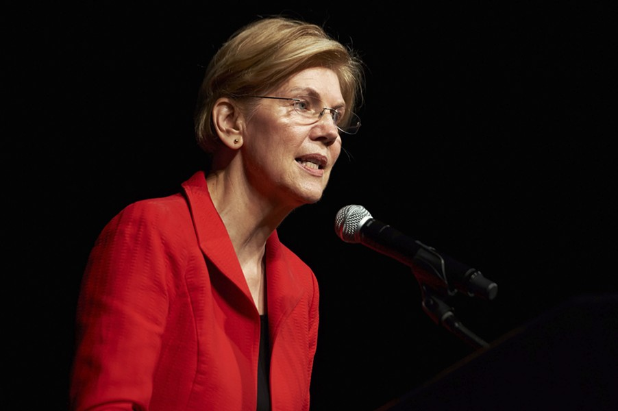Sen. Elizabeth Warren (D-Mass.) speaks at the 2018 Nevada State Democratic Convention in Reno, Nev., on June 23, 2018. Signaling even more strongly her intent to run for president, and to forcefully confront President Donald Trump, Warren on Monday, Oct. 15, 2018, released the results of a DNA test that she said indicated she had Native American ancestry. - BRIDGET BENNETT/THE NEW YORK TIMES