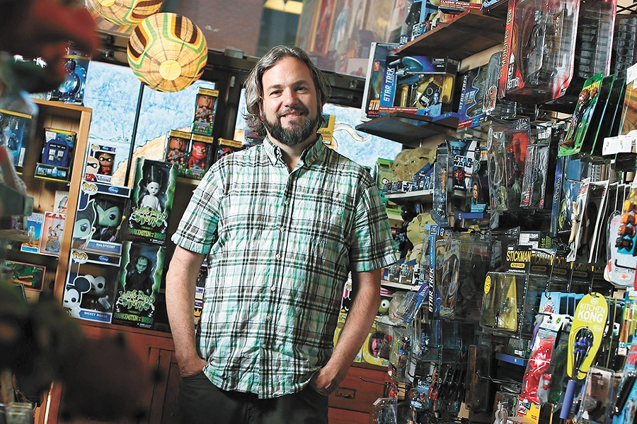 Andy Dinnison, owner of Boo Radley's, readers' favorite place to buy gifts. - YOUNG KWAK PHOTO