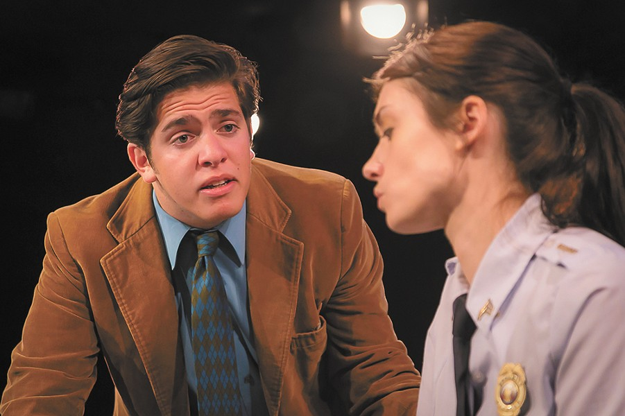 Ryan Shore and Jennie Oliver star in the Modern Theater's production of Reasons to be Happy. - DAN BAUMER