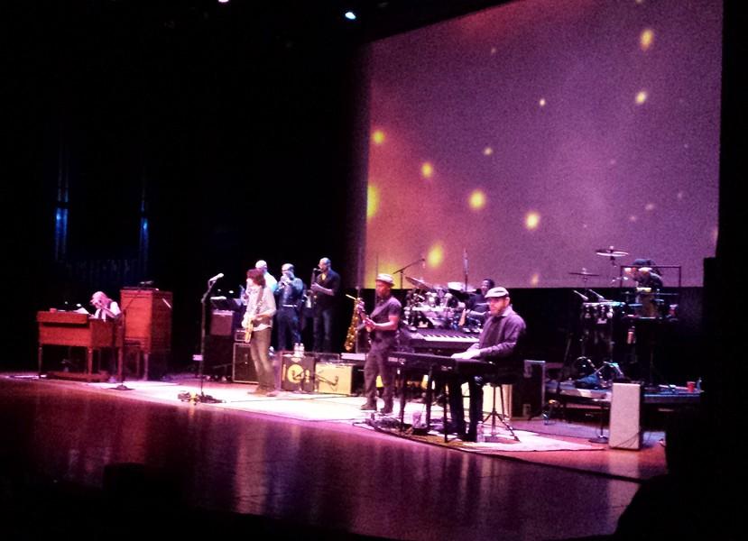 Gregg Allman, far left, and his touring band. - DAN NAILEN