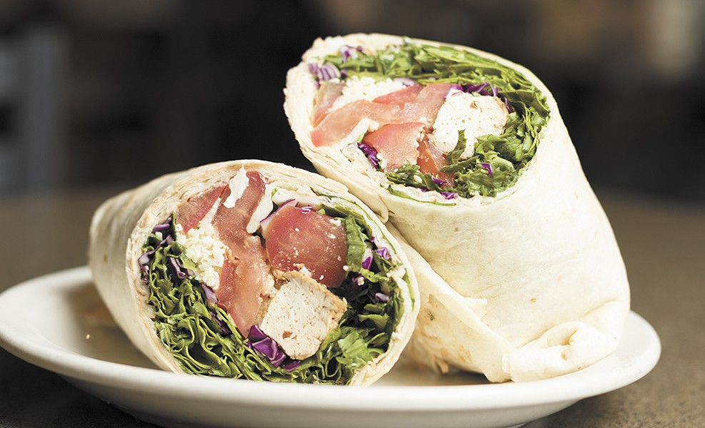 Two orders of blackened tofu wraps from Huckleberry's Natural Market's 9th Street Bistro. - YOUNG KWAK