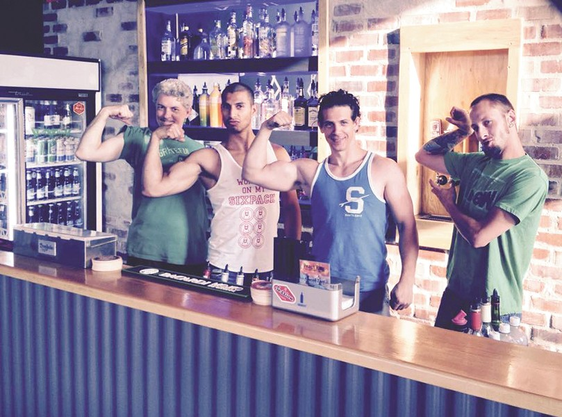 There's plenty of muscle to serve up drinks at the Foxhole.