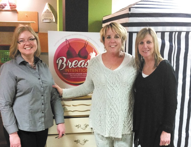 Nanette Peterson, Christine Weaver and Julie Tucker (left to right) offer bra-fitting events through their new charity, Breast Intentions.