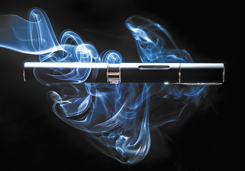 E-cigs simulate smoking by turning liquids — often with flavorings and nicotine — into an aerosol, or vapor.