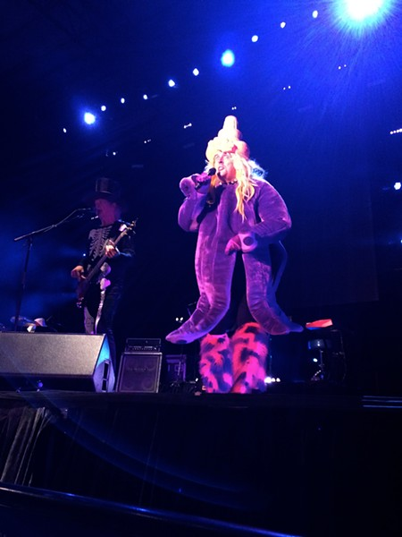 """Yankovic goes full octopus for """"Perform This Way"""" at Sunday's Northern Quest Resort & Casino show. - LAURA JOHNSON"""