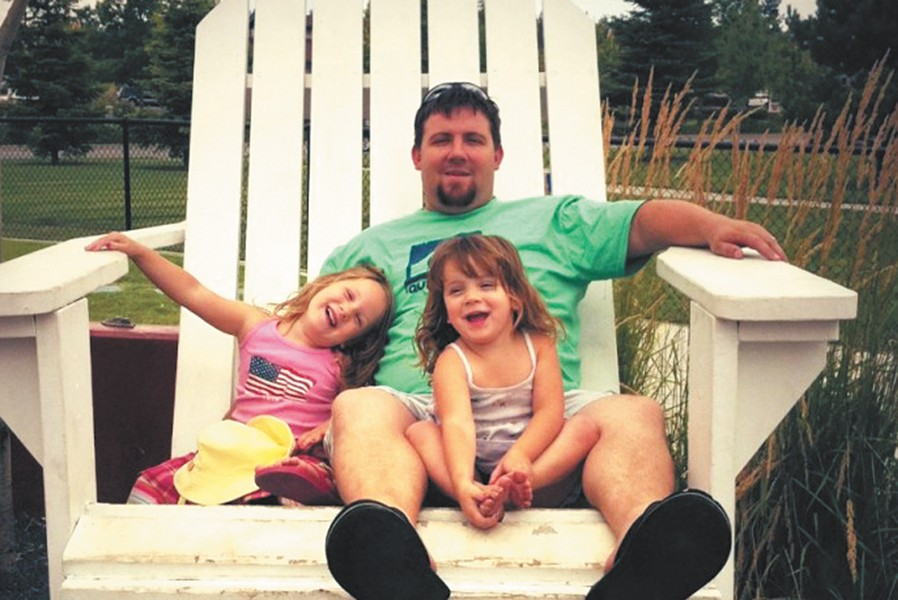 Mike Baroni and his two daughters were killed in a car wreck on Saturday.