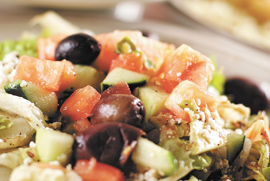 Greek salad at the White House Grill.