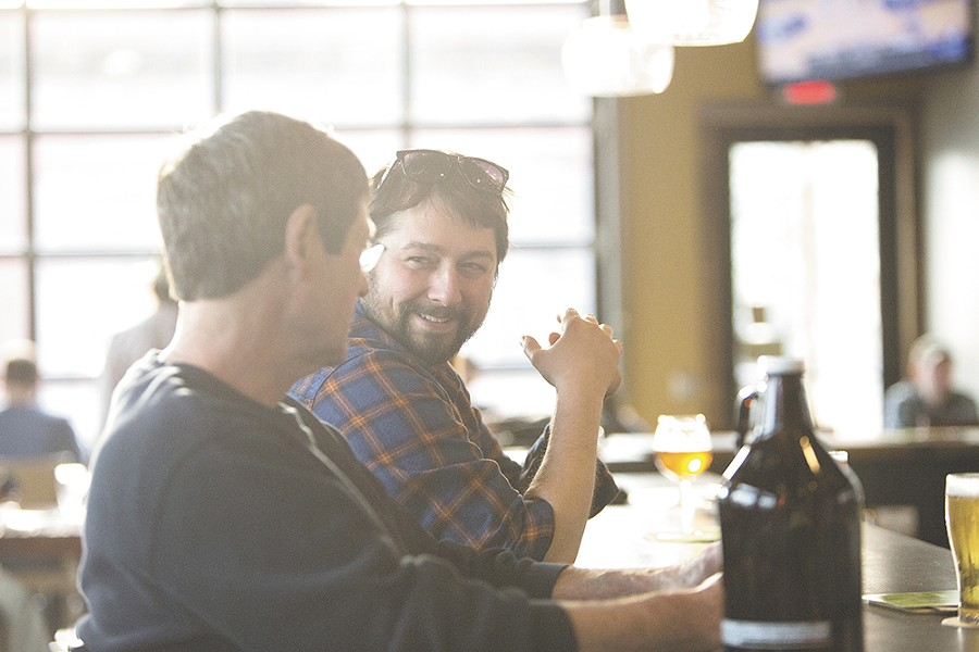 John Mitchell, left, and Paul Knowles at Perry Street Brewing. - YOUNG KWAK