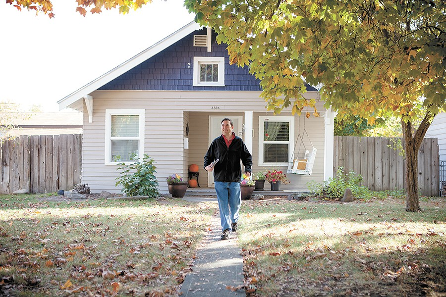 Despite having more endorsements and campaign money than his opponent, Council President Ben Stuckart isn't taking his re-election for granted and spends his Saturdays knocking on doors. - KRISTEN BLACK
