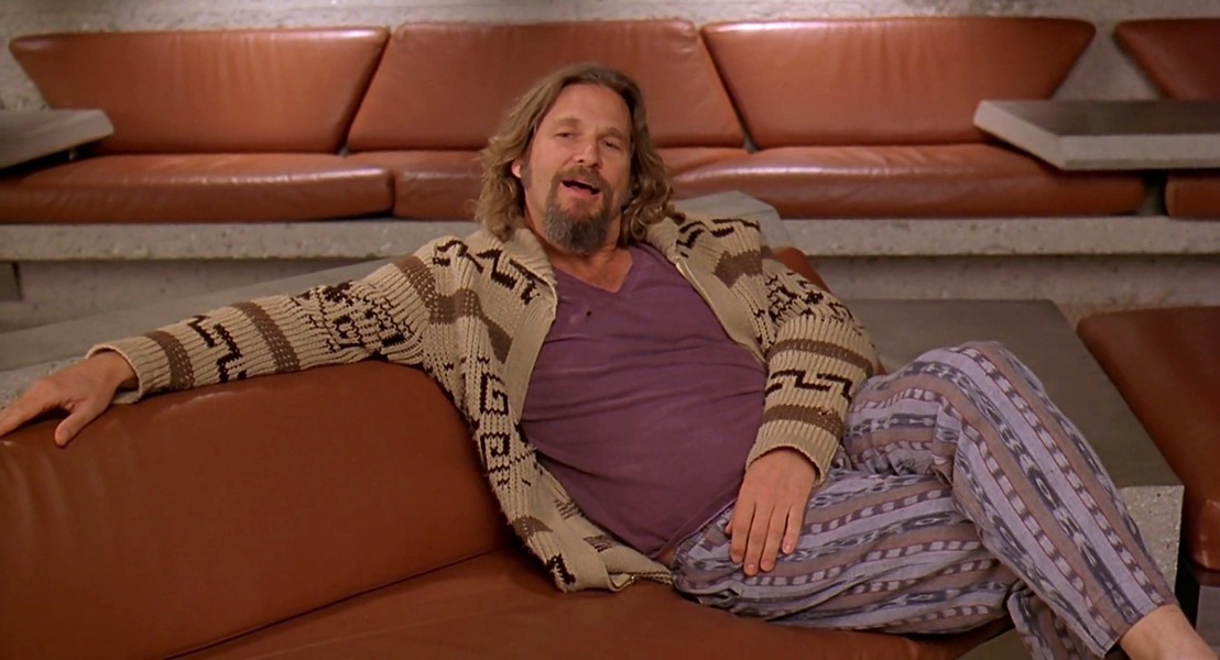 The Dude makes for a fine Halloween costume for your resident pot smokers.