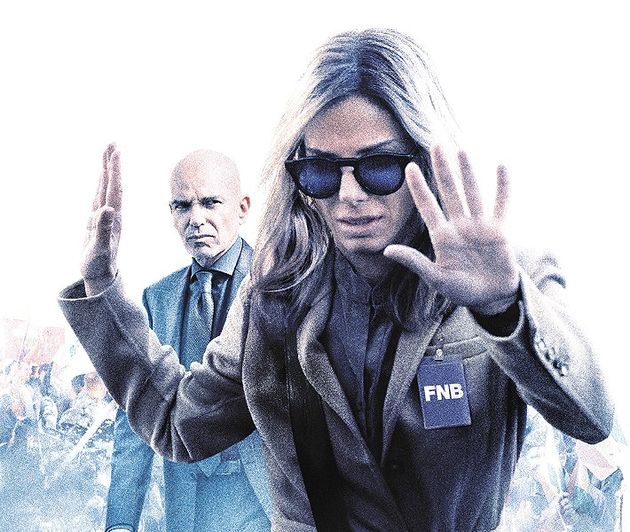Sandra Bullock and Billy Bob Thornton face off in Our Brand Is Crisis.