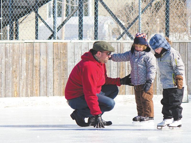 Learn to skate at any age at Riverfront Park's Ice Palace.