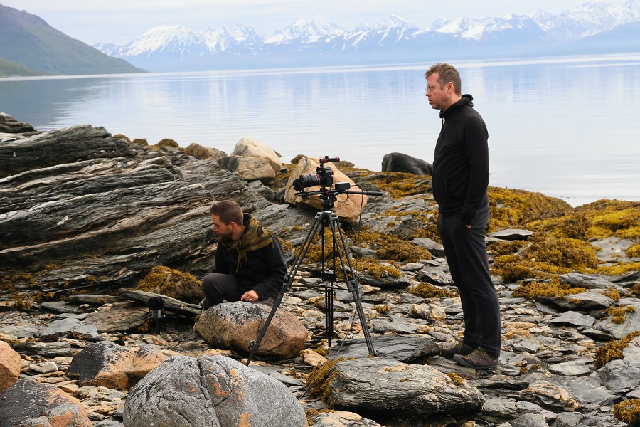 Pepiton (left) and Kline shooting scenes for Laura in Norway. - REBEKAH WILKINS-PEPITON